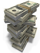 A stack of money