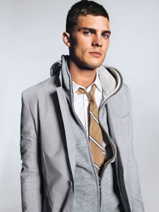 Man dressed in trendy clothes