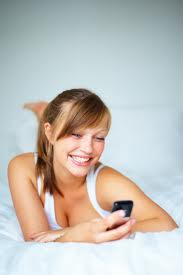 Woman enjoying her phone session