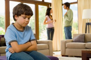 Child subjected to parent's arguments