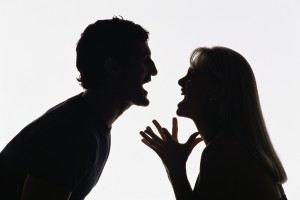 Couple fighting in a relationship