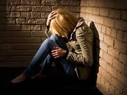 Woman in depair