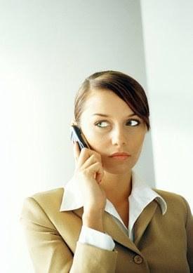 Woman receiving a phone call.