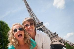 Happy couple in Paris