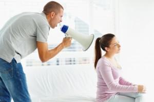 Man abusing woman emotionally