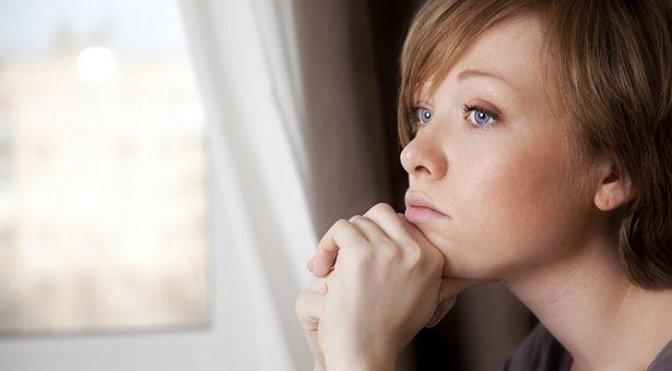 Sad woman reflecting