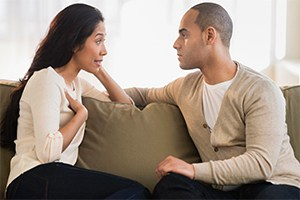 couple having discussion