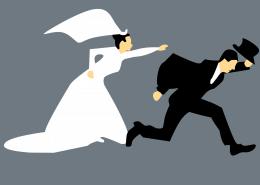 wife chasing husband
