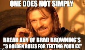 brad's texting rules meme