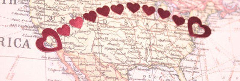 long distance map